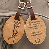 Personalized Golf Bag Tags - Vintage Golfer - 14389