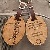 Personalized Golf Bag Tags - Vintage Golfer - 14389
