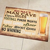 Personalized Doormats - Man Cave Rules - 14400