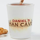 Personalized Shot Glass - Man Cave Rules - 14402