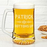 Personalized Glass Beer Mugs - Raise Your Glass - 14409