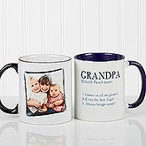 Personalized Coffee Mugs for Men - Definition of a Dad or Grandpa - 14427