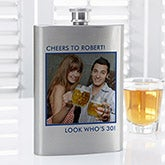 Personalized Photo Flasks - Picture Perfect - 14461