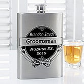 Cheers To The Groomsman Personalized Flask