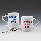 Design Your Own Custom Lover's Coffee Mug Set - 14469