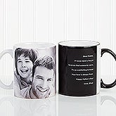 Personalized Coffee Mugs for Him - Photo Sentiments - 14474