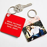 Personalized Photo Key Ring - Picture Perfect Couple - 14478