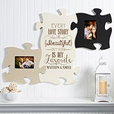Personalized Puzzle Piece Picture Frames - Love Quotes - 14486
