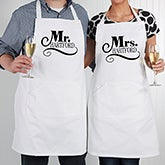 Personalized Wedding Aprons - Happy Couple - 14504