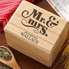 Personalized Recipe Boxes - Happy Couple - 14507