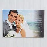 Personalized Wedding Photo Canvas Prints - Wedding Sentiments - 14510
