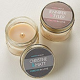 Personalized Candle Wedding Favors - Forever In Love - 14513