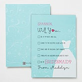 Will You Be My Bridesmaid Personalized Card - 14520