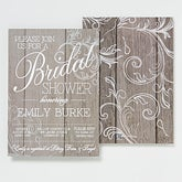 Personalized Bridal Shower Invitations - Rustic Wedding - 14522