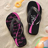 Personalized Flower Girl Wedding Flip Flop Sandals - 14525