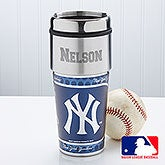 Personalized MLB Baseball Travel Mugs - New York Yankees - 14530