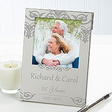 Personalized Silver Picture Frames - Anniversary Memories - 14564