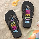 Personalized Kids Flip Flop Sandals - All Mine - 14571
