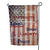 Personalized Garden Flags - Patriotic Family - 14576