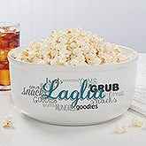 Personalized Serving Bowls - Family Snack Time - 14578