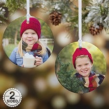 Personalized Photo Christmas Ornaments - 2-Sided Personalization - 14590