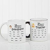 Personalized Grandparents Coffee Mugs - So Many Reasons - 14621
