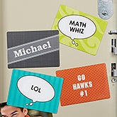 Personalized Locker Magnet Set - Speech Bubbles - 14627