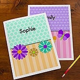 Personalized Girls Folders - Flowers, Butterflies, Ladybugs & Cupcakes - 14629
