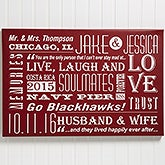 Personalized Couple Canvas Print Wall Art - Our Life Together - 14677