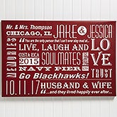 Personalized Canvas Print Wall Art - Our Life Together - 14677