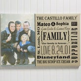 Personalized Family Photo Canvas Print Wall Art - Our Family  - 14679