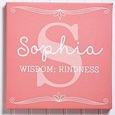 Personalized Kids Name Canvas Art Print - Name Meaning - 14680