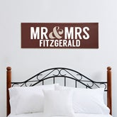 Personalized Wedding Canvas Art - Mr and Mrs - 14683