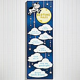 Personalized Kids Room Decor - Bedtime Rules Wall Art  - 14684