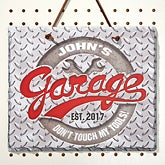 Personalized Slate Plaque - His Garage - 14690