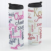 Personalized Travel Tumbler - Signature Style - 14696