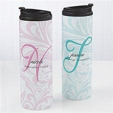 Personalized Coffee Mug Travel Tumbler - Name Meaning - 14699