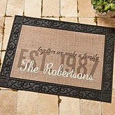 Personalized Burlap Family Doormat - Together We Make A Family - 14705