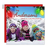 Personalized Photo Christmas Card - Holiday Lights - 14726