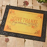 Personalized Thanksgiving Doormat - Give Thanks - 14748