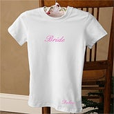 Personalized Ladies Fitted T Shirt - Bridal Party Designs - 1475