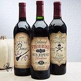 Personalized Wine Bottle Labels - Vintage Halloween - 14753
