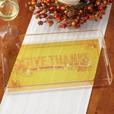 Personalized Serving Tray - Give Thanks - 14754