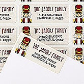 Personalized Holiday Return Address Labels - Nutcracker - 14760