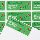Personalized Christmas Return Address Labels - String Of Lights - 14773