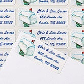 Personalized Winter Return Address Labels - Enchanted Snow Escape - 14775