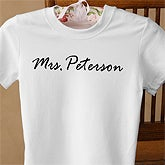 Personalized Newlywed Bride Name T-Shirt - 1478