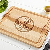 Personalized Wood Cutting Boards - Family Brand - 14784