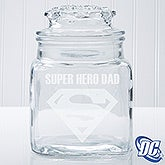 Personalized Superman Glass Jar - 14785