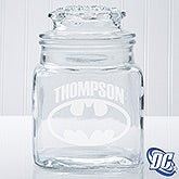 Personalized Batman Glass Jar - 14786